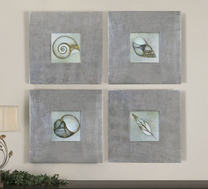 Neptune's Garden Framed Art Set/4 - taylor ray decor