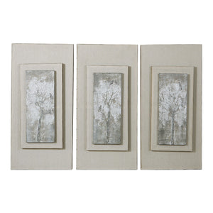 Triptych Trees Hand Painted Art Set/3 - taylor ray decor