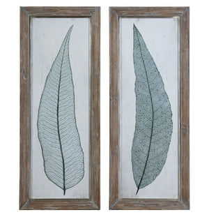Tall Leaves Framed Art Set/2 - taylor ray decor