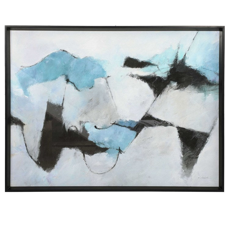 Winter Crop Abstract Framed Print