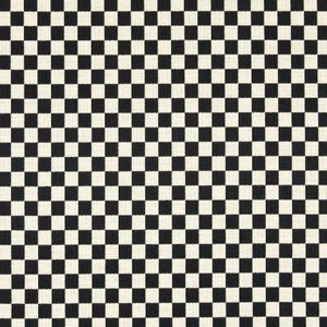 Checker Black White Cotton Polyester