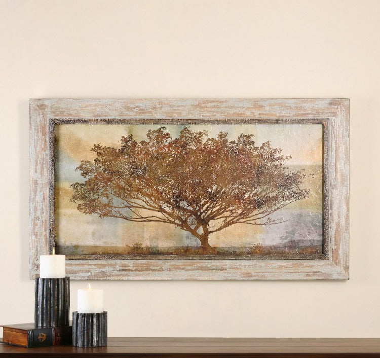 Autumn Radiance Sepia Framed Art - taylor ray decor