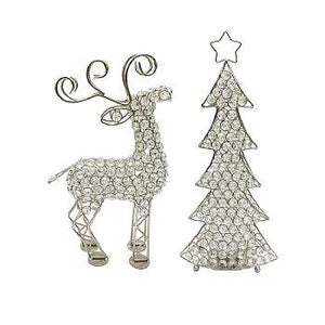 Shown with Cristal Reindeer Sculpture Item #5708 sold separately.