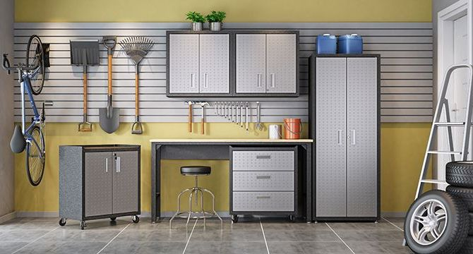 Fortress Floating Garage Cabinet Taylor Ray Decor