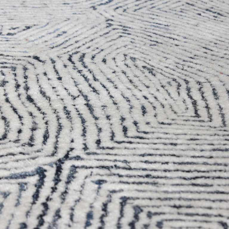 Maze, Blue Hand Tufted Rug - taylor ray decor