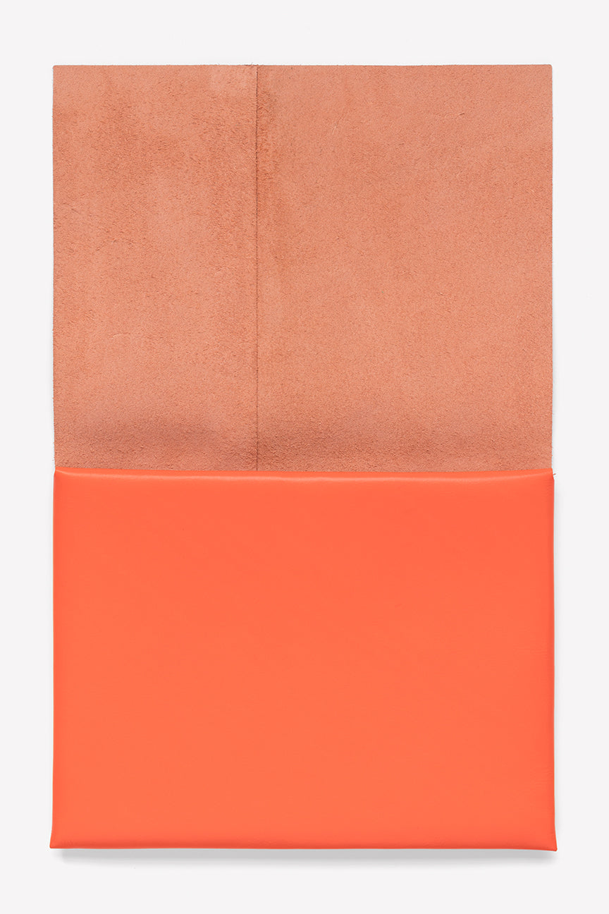 Folded Leather Pouch Large in Vibrant
