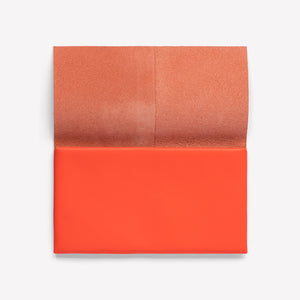 Folded Leather Pouch Long in Vibrant