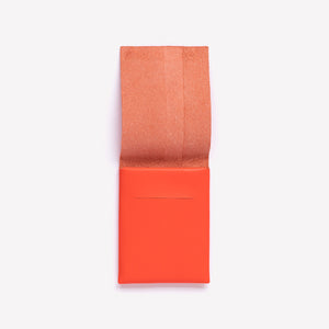 Folded Leather Pouch Small in Vibrant