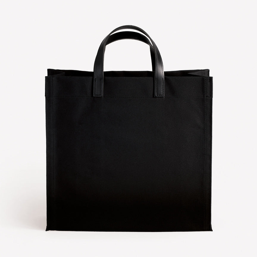 Amsterdam Cotton Canvas Bag in Black Black