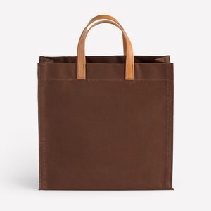 Amsterdam Cotton Canvas Bag in Brown Saddle