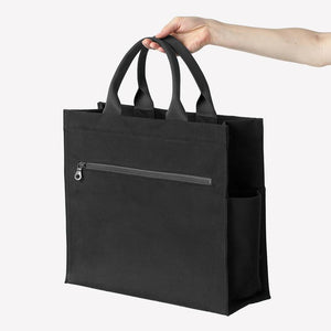 Scamp Bag in Black Cotton Canvas