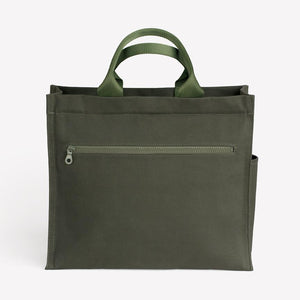 Scamp Bag in Olive Cotton Canvas