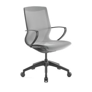 Pret Dove Mesh Shell Executive Chair with Carbon Finish