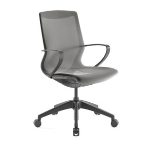 Pret Granite Mesh Shell Executive Chair with Carbon Finish