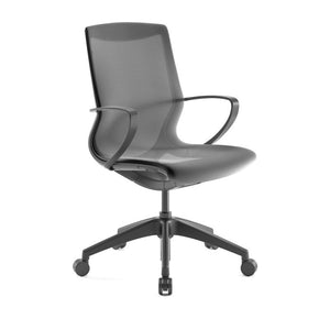 Pret Raven Mesh Shell Executive Chair with Carbon Finish