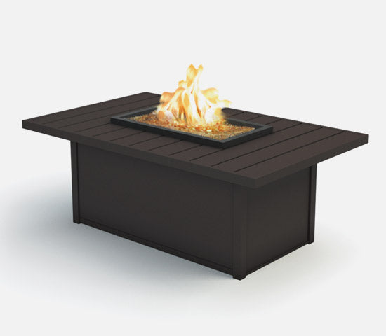 "Breeze 32"" x 52"" Rectangular Coffee Fire Pit (Aurora Aluminum Base)"
