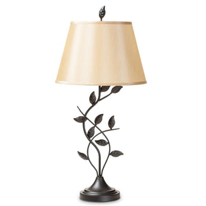 Baxton Studio Cilla Transitional Black Metal Leaf Table Lamp