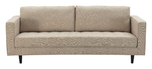 Arthur Tweed Upholstered Sofa in Tan-Brown