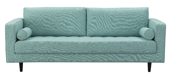 Arthur Tweed Upholstered Sofa in Mint Green-Blue