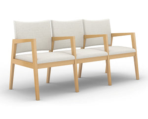 Rein+ Wood Frame Guest Chair/Chair Tandem - taylor ray decor