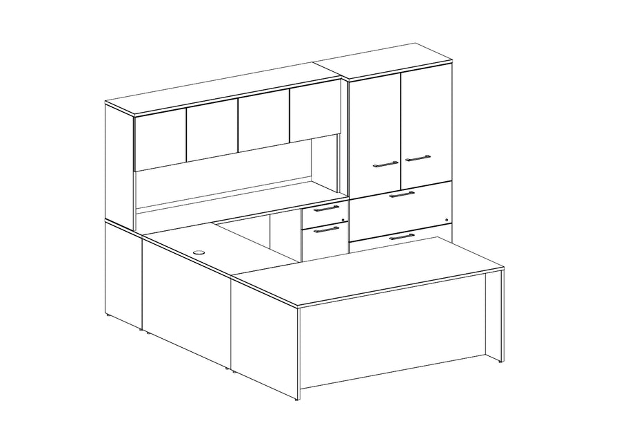 Concept 400E Plan 09 Workstation - taylor ray decor