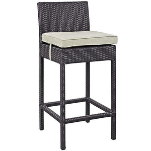 Convene Outdoor Patio Fabric Bar Stool - taylor ray decor
