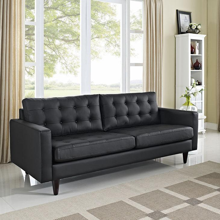 Empress Bonded Leather Sofa - taylor ray decor