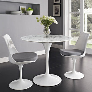 "Lippa 36"" Artificial Marble Top Dining Table"