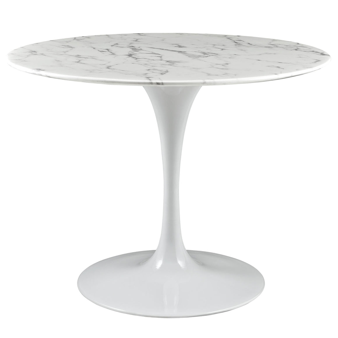 "Lippa 40"" Round Artificial Marble Top Dining Table"