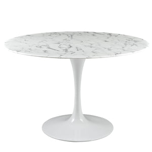 "Lippa 47"" Artificial Marble Dining Table - taylor ray decor"