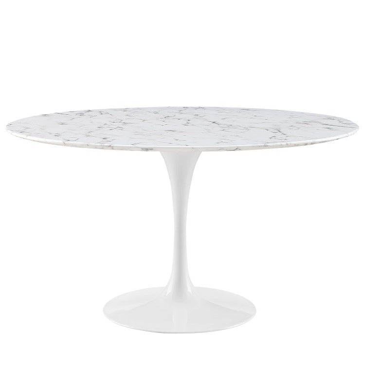 "Lippa 54"" Artificial Marble Dining Table - taylor ray decor"