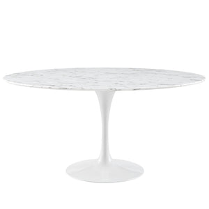 "Lippa 60"" Artificial Marble Dining Table - taylor ray decor"