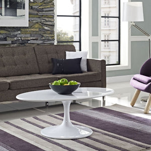 "Lippa 42"" Oval-Shaped Wood Top Coffee Table - taylor ray decor"