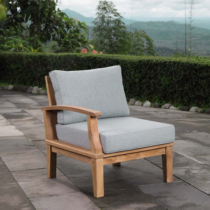 Marina Outdoor Patio Teak Left-Facing Sofa - taylor ray decor