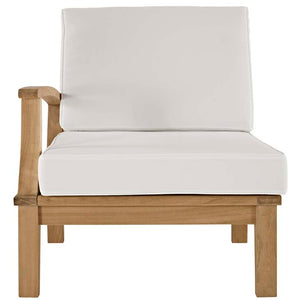 Marina Outdoor Patio Teak Left-Facing Sofa