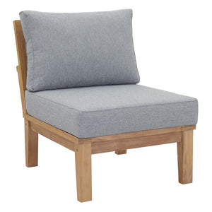 Marina Outdoor Patio Teak Armless Sofa - taylor ray decor