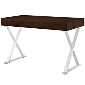 Sector Modern Home Office Desk (Stainless Steel)