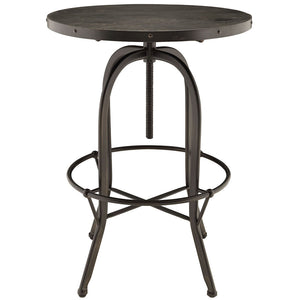 Sylvan Wood Top Industrial Bar Table