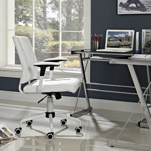 Lattice Vinyl Office Chair - taylor ray decor