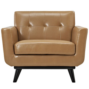 Engage Modern Bonded Leather Armchair - taylor ray decor