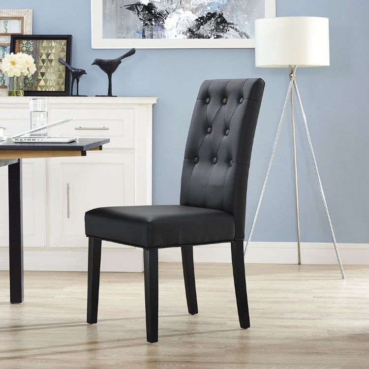 Confer Dining Vinyl Side Chair - taylor ray decor