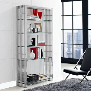 Gridiron Stainless Steel Bookshelf