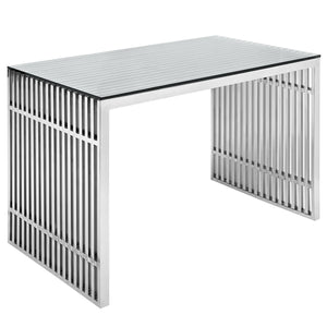 Gridiron Stainless Steel Home Office Desk - taylor ray decor