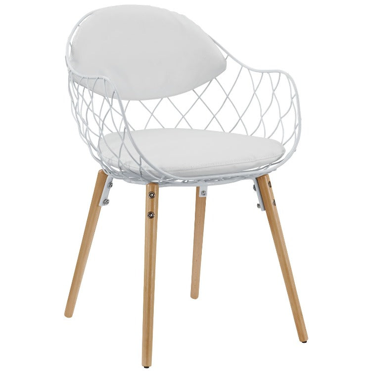 Basket Dining Metal Armchair - taylor ray decor
