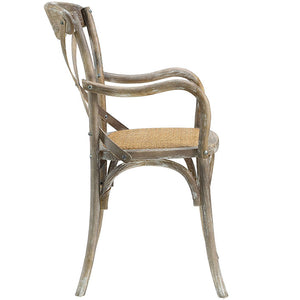 Gear Rustic Wood Dining Armchair