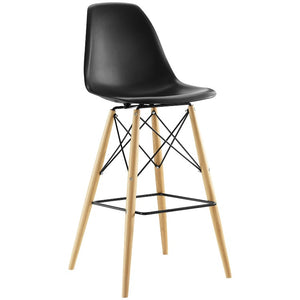 Pyramid Modern Bar Stool in Black
