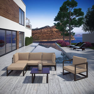 Fortuna 6 Piece Outdoor Patio Sectional Sofa Set - taylor ray decor