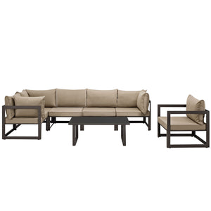 Fortuna 7 Piece Outdoor Patio Sectional Sofa Set - taylor ray decor