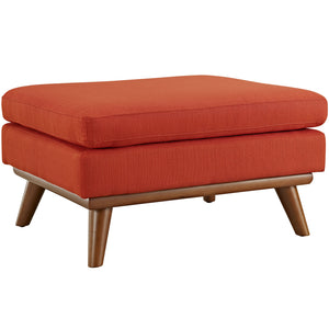 Engage Mid-Century Modern Fabric Ottoman