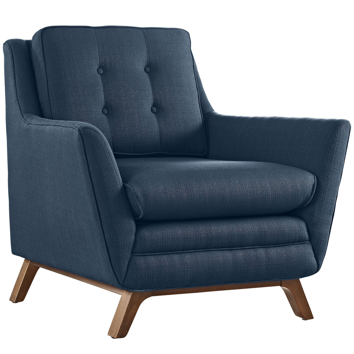 Beguile Upholstered Fabric Armchair in Azure